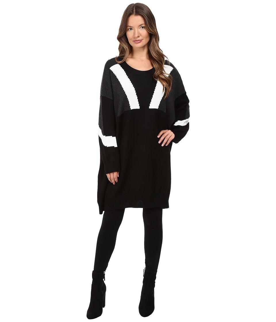 Neil Barrett Oversize Modernist Wool Sweater (Black) Women