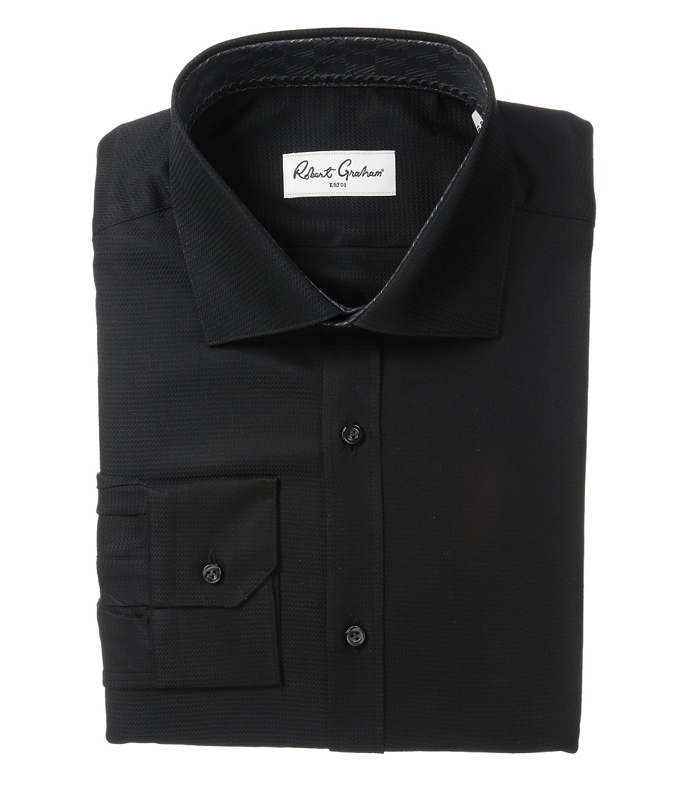 Robert Graham - Joy Dress Shirt (Black) Mens Long Sleeve Button Up