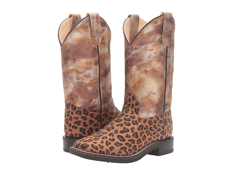Old West Kids Boots Leopard Print Square Toe (Toddler/Little Kid) - Print
