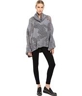 Y's by Yohji Yamamoto - Holey Dolman Sleeve Turtleneck Poncho Sweater