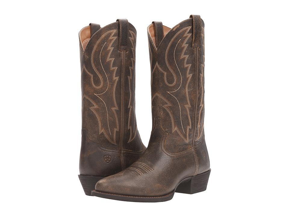 Ariat Sport R Toe (Brooklyn Brown) Cowboy Boots