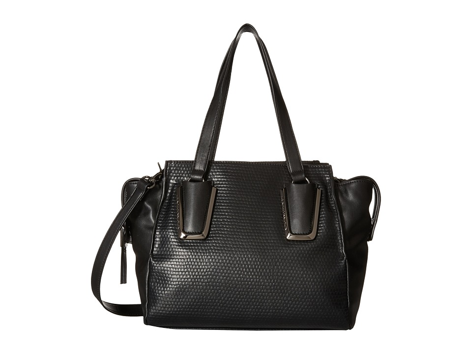 French Connection - Etta Satchel (Black) Satchel Handbags