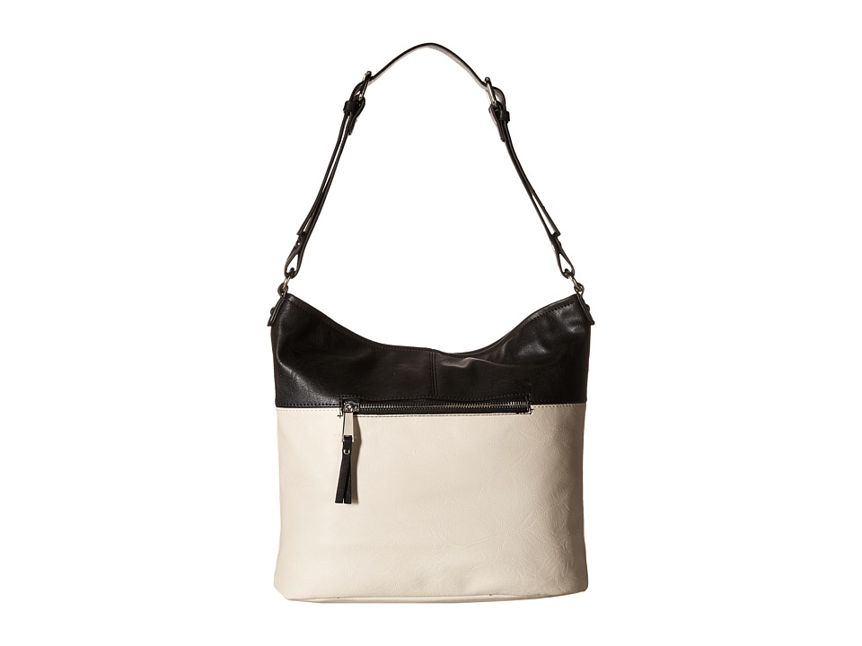 French Connection - Charlie Hobo (Black/African Stone) Hobo Handbags