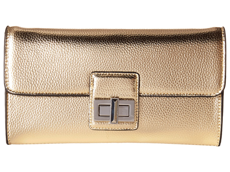French Connection - Fiona Clutch (Light Gold) Clutch Handbags