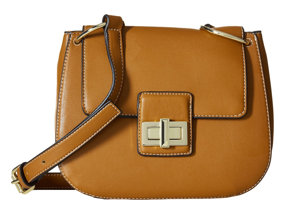 French Connection - Fiona Saddle Bag (Nutmeg) Cross Body Handbags