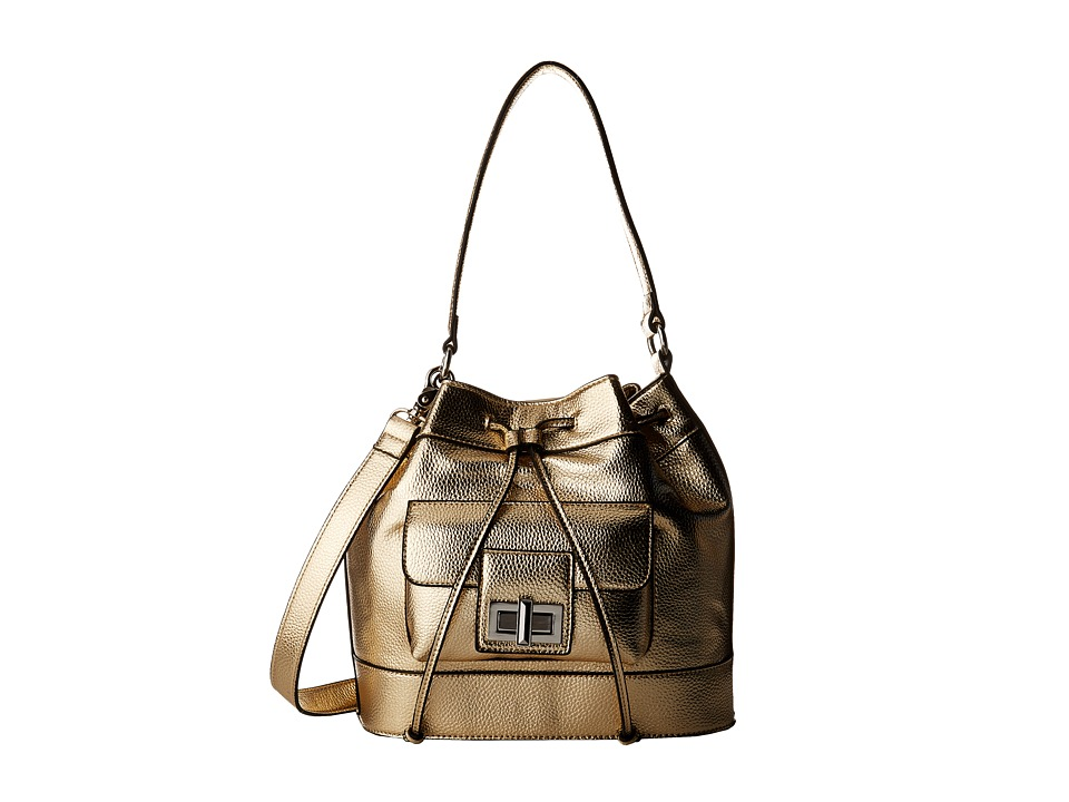French Connection - Fiona Drawstring (Light Gold) Drawstring Handbags