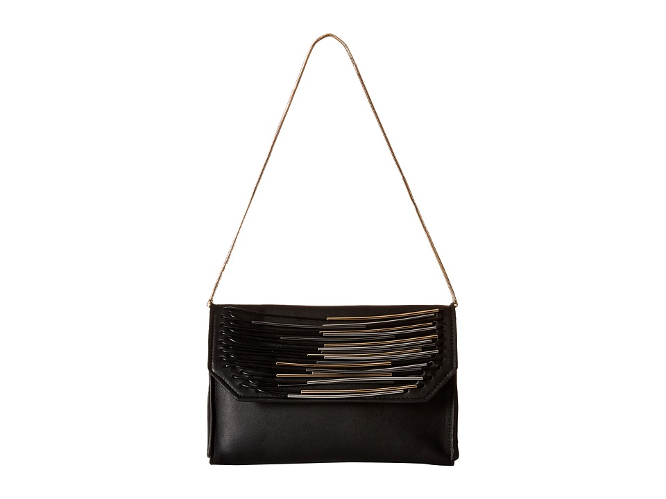French Connection - Yvette Mini Clutch (Black) Clutch Handbags