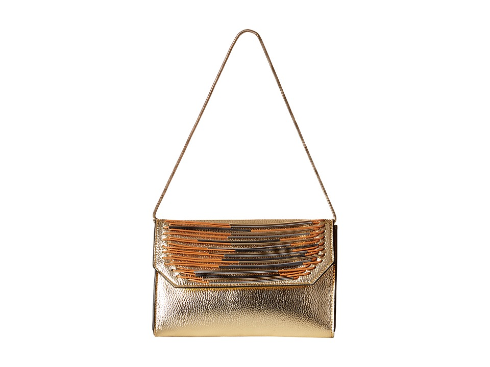 French Connection - Yvette Mini Clutch (Light Gold) Clutch Handbags