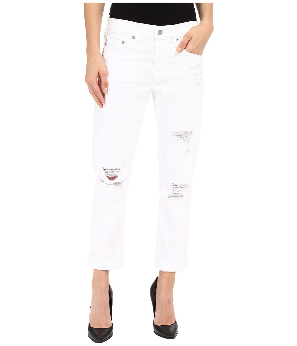 AG Adriano Goldschmied The Ex Boyfriend Crop in 1 Year Busted White 1 Year Busted White Womens Jeans