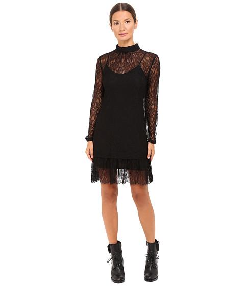Black lace dress size 0 us measurements