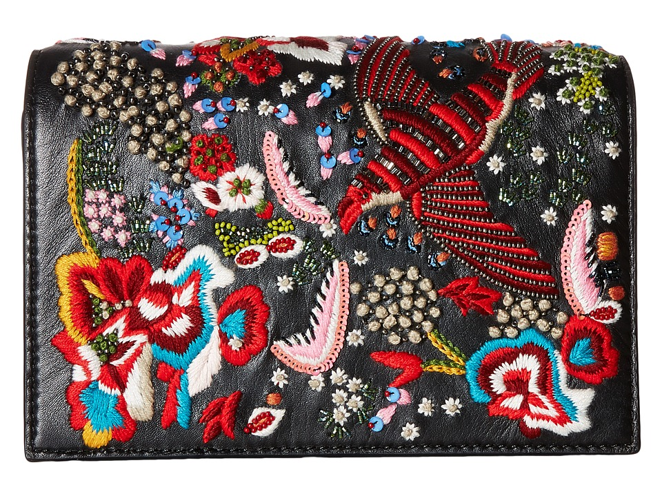 Alice + Olivia - Embroidered Leather Bird Party Clutch