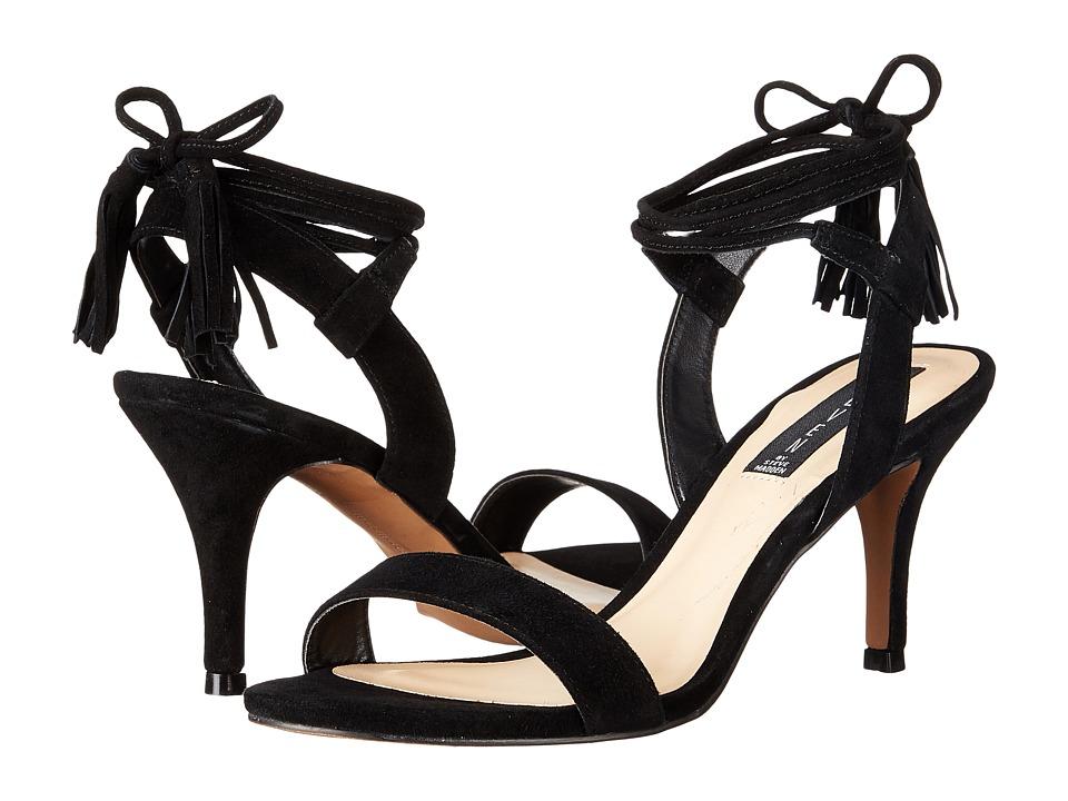 Steven Valen Black Suede Womens 1 2 inch heel Shoes