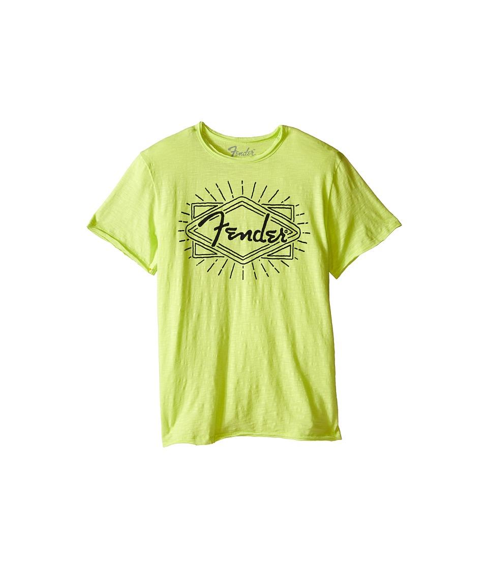 Lucky Brand Kids - Fender Ray Tee (Big Kids) (Neon Green) Boy