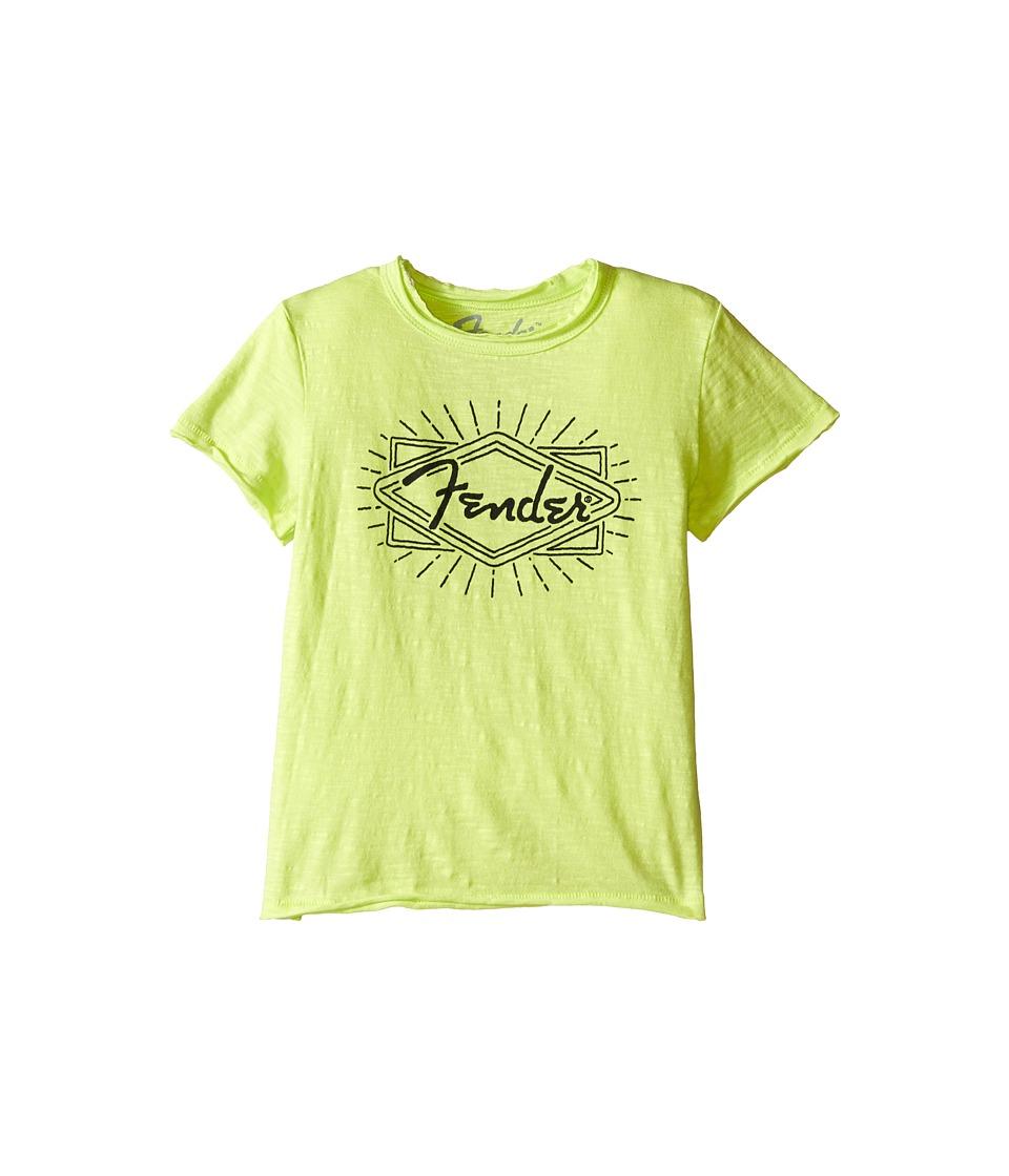 Lucky Brand Kids - Fender Ray Tee (Toddler) (Neon Green) Boy