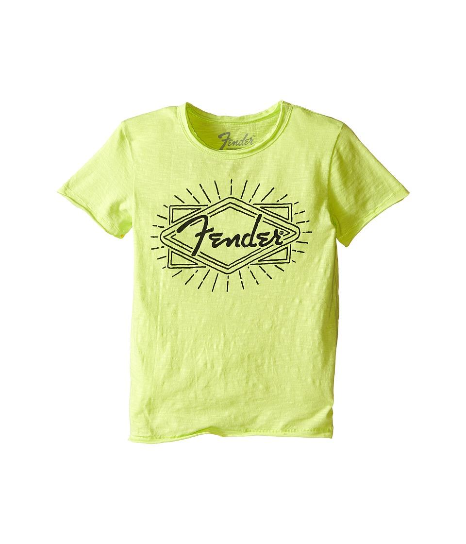 Lucky Brand Kids - Fender Ray Tee (Little Kids/Big Kids) (Neon Green) Boy