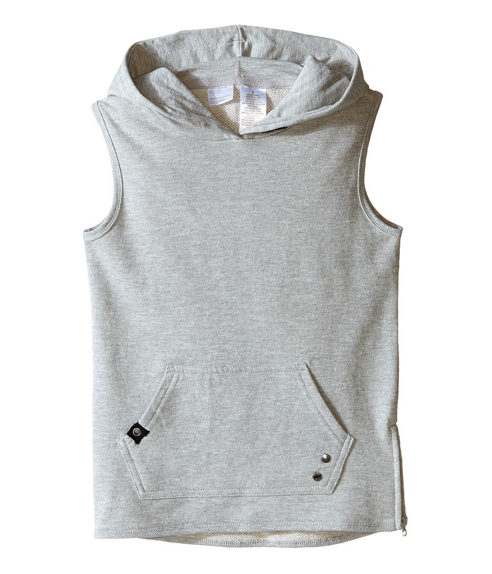 Kardashian Kids Long Line Sweat Top Toddler/Little Kids Grey Boys Clothing