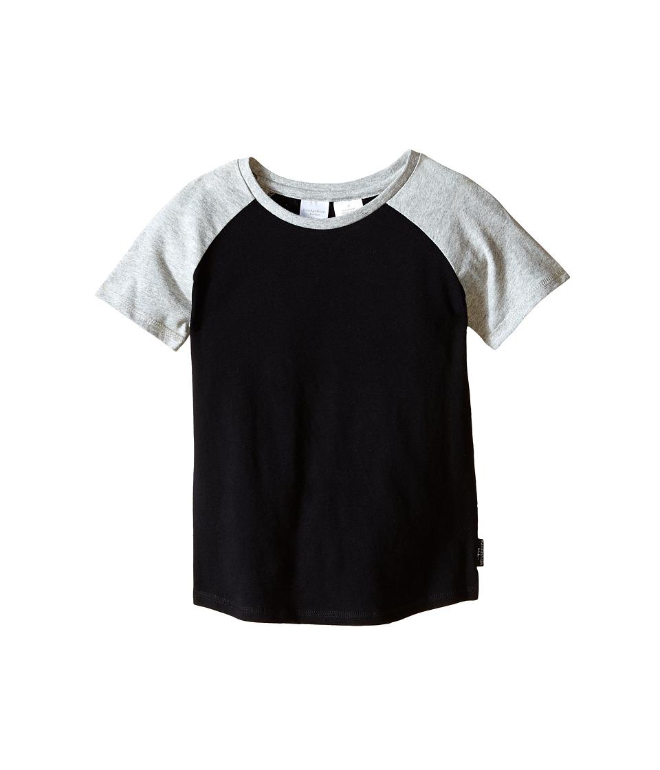 Kardashian Kids Raglan Tee Toddler/Little Kids Black/Grey Boys T Shirt