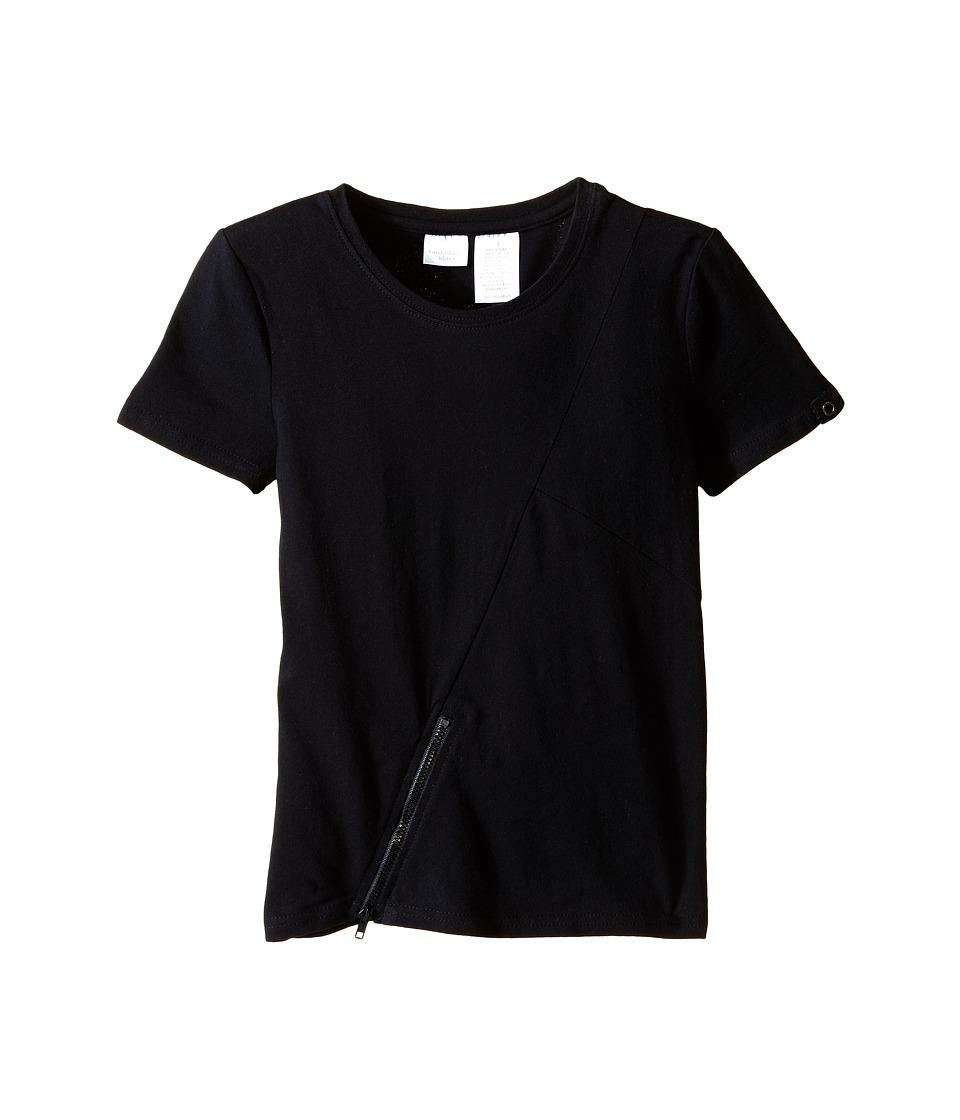 Kardashian Kids Tee with Zip Detail Toddler/Little Kids Black Boys T Shirt