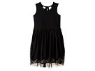 Knit Dress w/ Tulle Skirt Chevron Sequin Trim (Toddler/Little Kids)