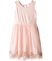 Kardashian Kids - Knit Dress w/ Tulle Skirt Chevron Sequin Trim (Toddler/Little Kids)