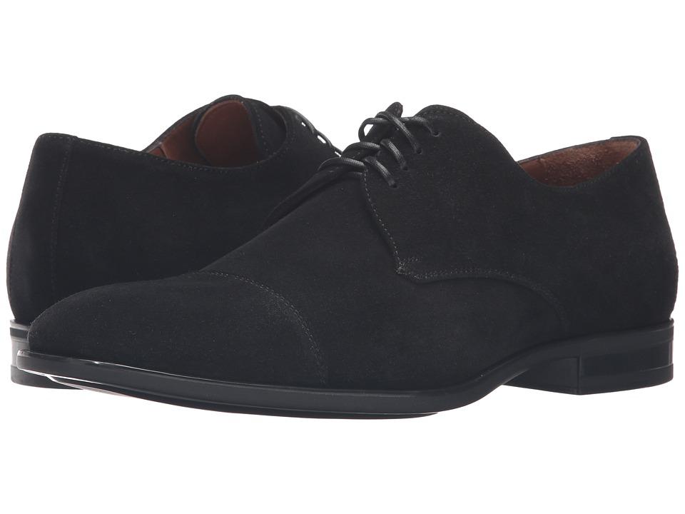 Image of Aquatalia - Abe (Black Dress Suede) Men's Lace up casual Shoes