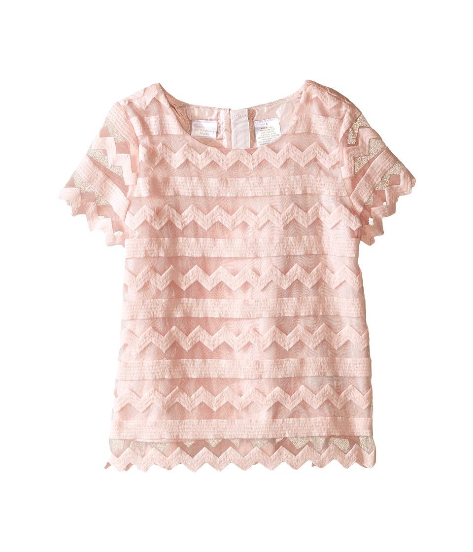 Kardashian Kids Embroided Organza Top Toddler/Little Kids Ice Pink Girls Clothing