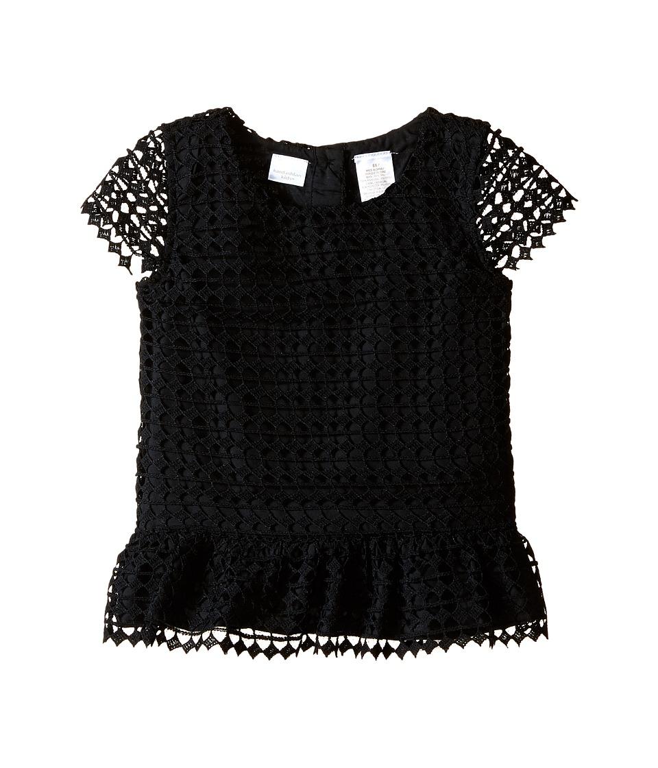 Kardashian Kids Lace Peplum Top Toddler/Little Kids Black Girls Clothing
