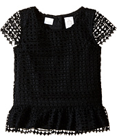 Kardashian Kids - Lace Peplum Top (Toddler/Little Kids)