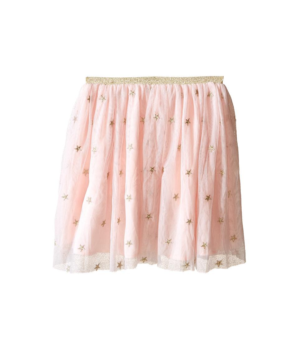 Kardashian Kids Star Metallic Embroided Skirt with Gold Elastic Toddler/Little Kids Ice Pink Girls Skirt