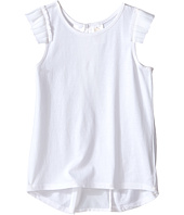 Kardashian Kids - Jersey Tee with Pleated Sleeve and Crepe Pleat Back (Toddler/Little Kids)