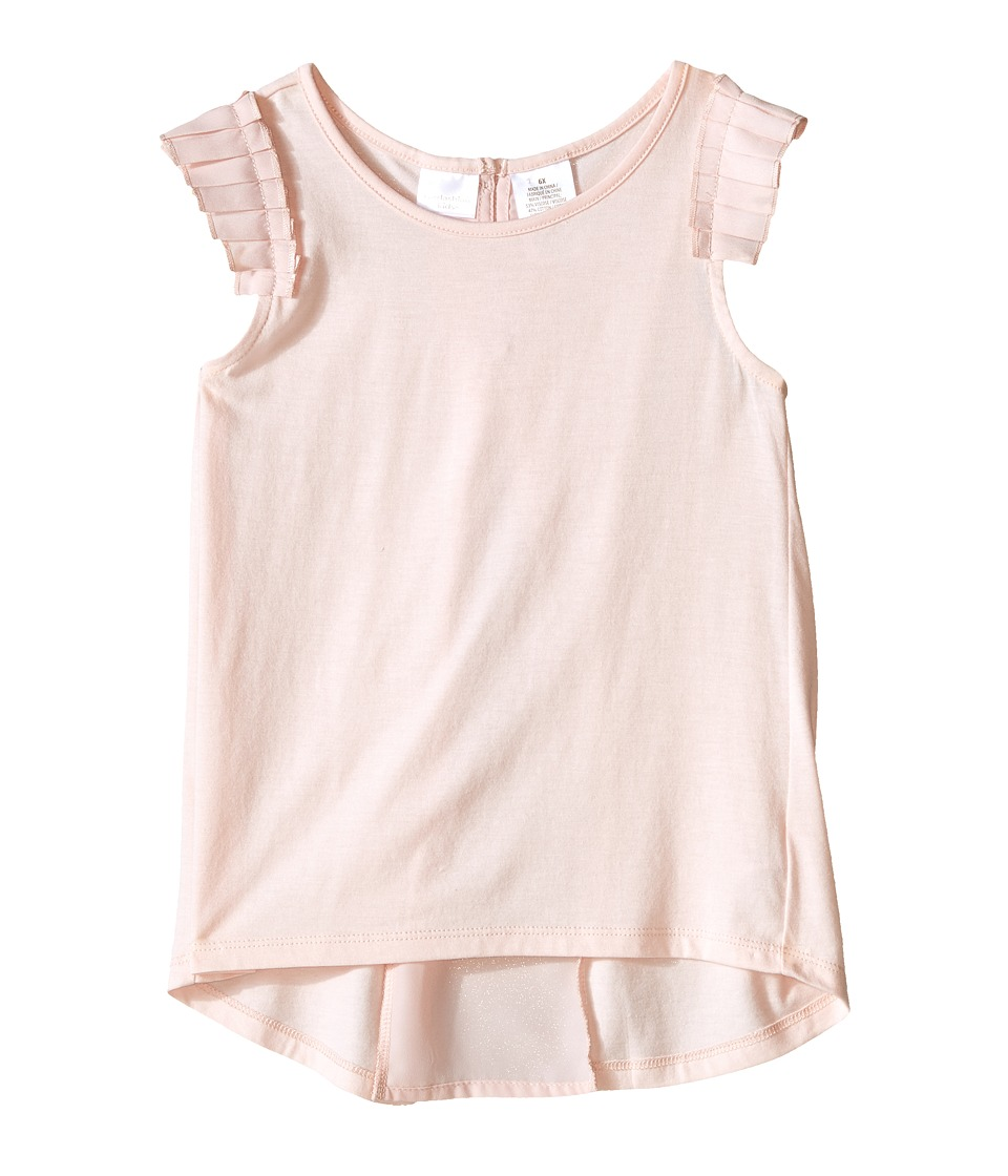 Kardashian Kids Jersey Tee with Pleated Sleeve and Crepe Pleat Back Toddler/Little Kids Ice Pink Girls T Shirt