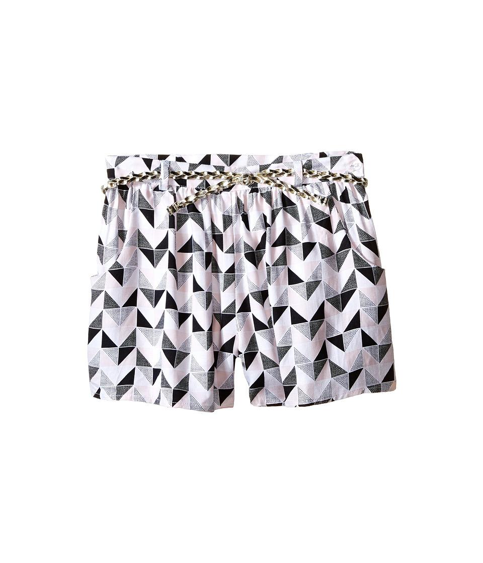 Kardashian Kids Loose Printed Shorts with Gold Plaited Belt Toddler/Little Kids Print Multi Girls Shorts