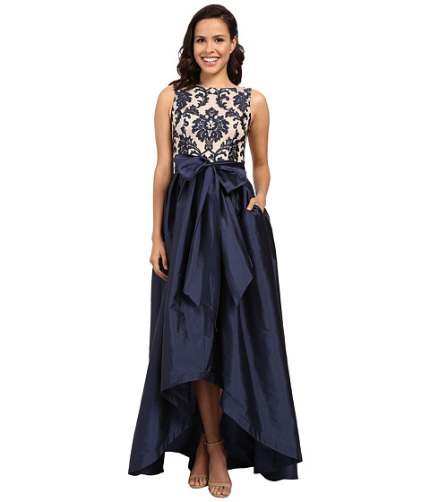 Image Adrianna Papell Embroidered Lace Taffeta Ball Gown