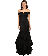 Adrianna Papell - Off Shoulder Mermaid Ruffle Gown