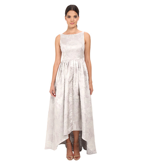 Image Adrianna Papell Sleeveless Jacquard High-Low Ball Gown
