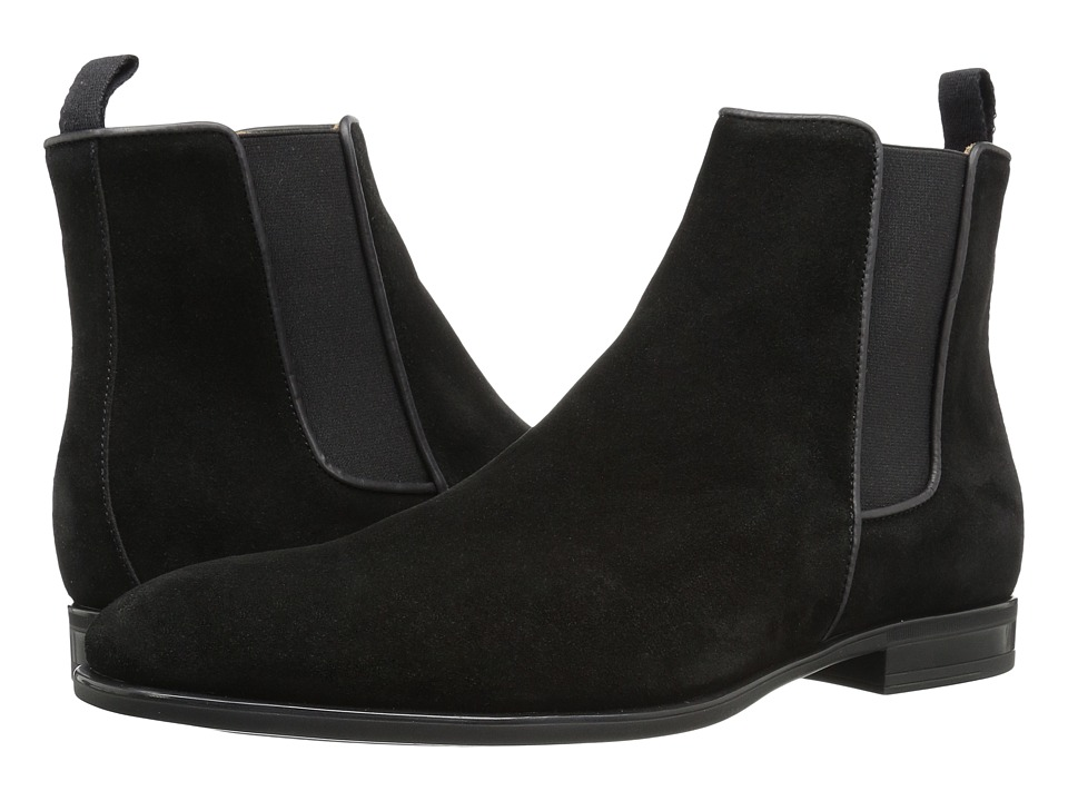 Aquatalia Adrian (Black Dress Suede) Men's Pull-on Boots