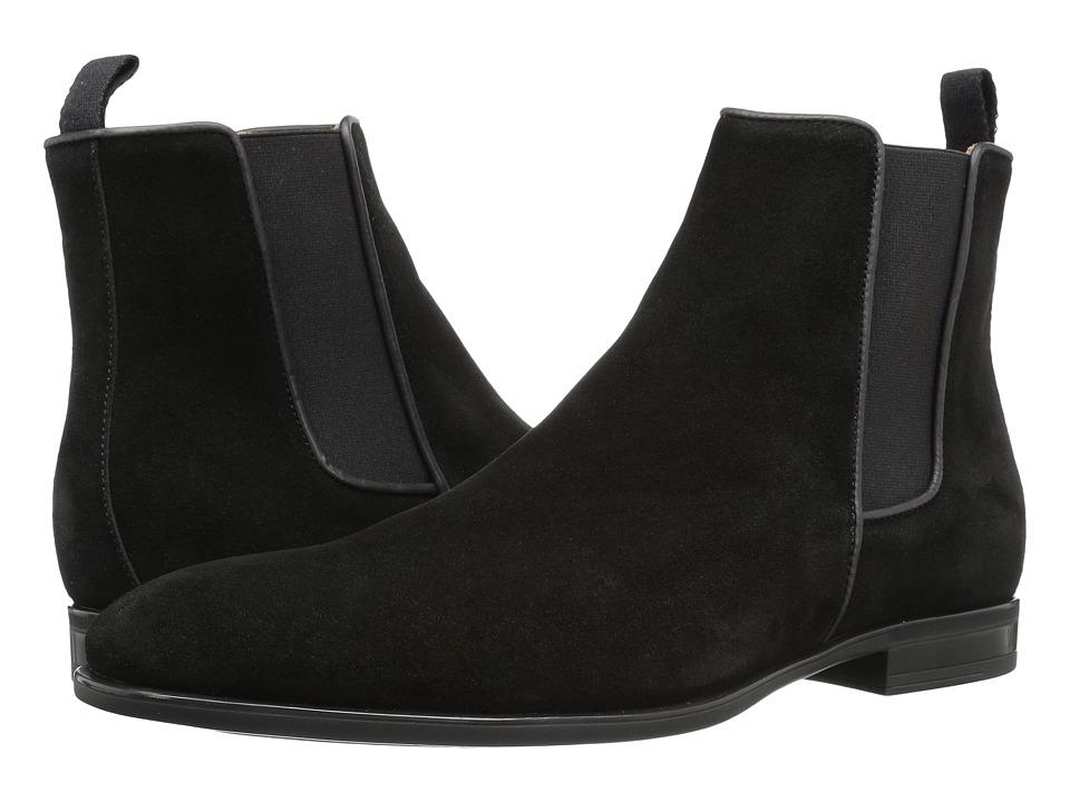 Aquatalia - Adrian (Black Dress Suede) Mens Pull-on Boots