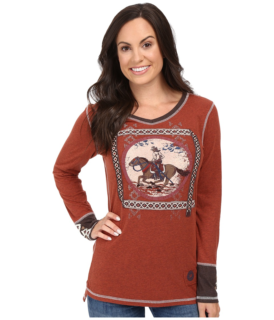 Double D Ranchwear - Gaucho and His Horse Tee (Spitfire) Women