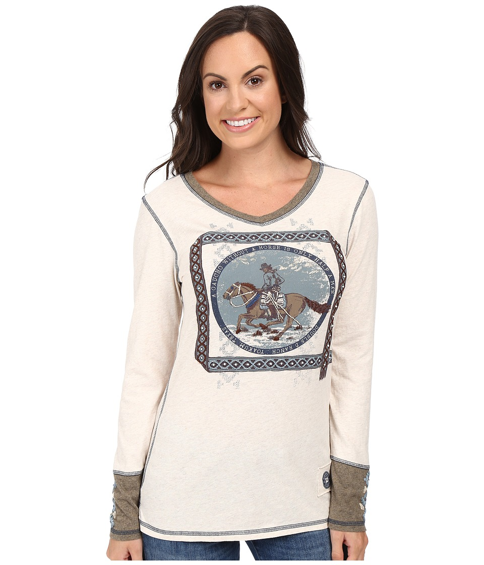 Double D Ranchwear - Gaucho and His Horse Tee (String) Women