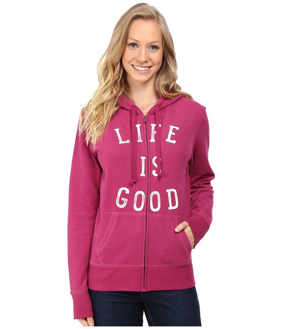 Life is good LIG Go To Zip Hoodie (Wild Plum) Women