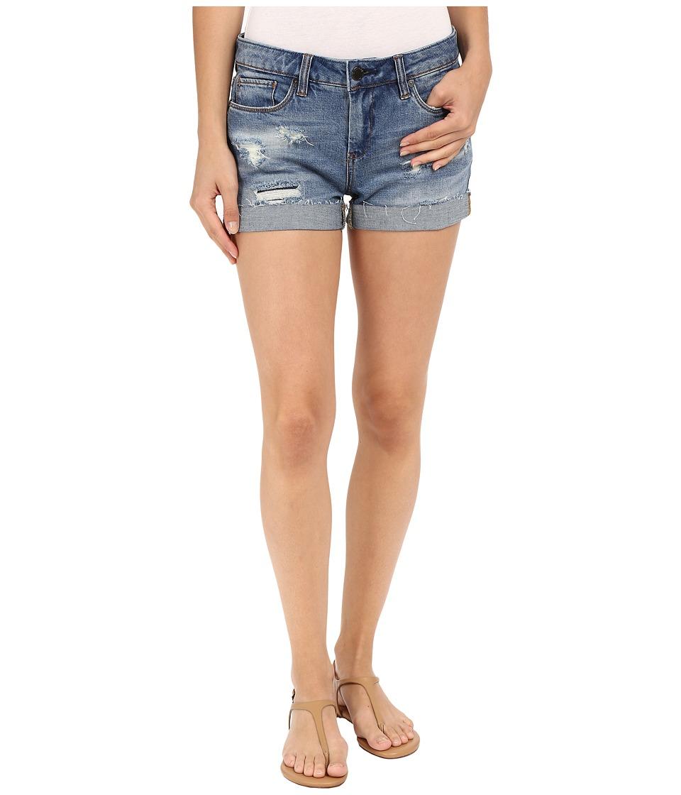 Blank NYC - Denim Cuffed Distressed Shorts in Weekend Warrior