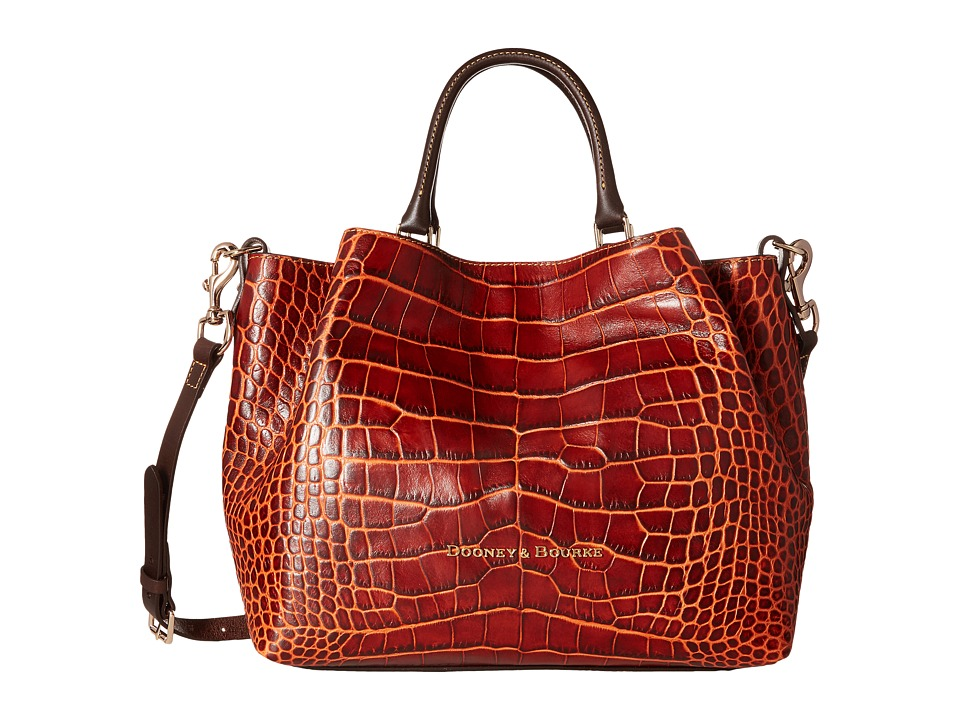 Dooney & Bourke - City Lafayette Large Barlow (Burnt Orange) Satchel Handbags