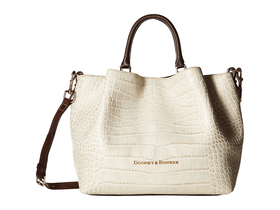 Dooney & Bourke - City Lafayette Large Barlow (Ivory) Satchel Handbags