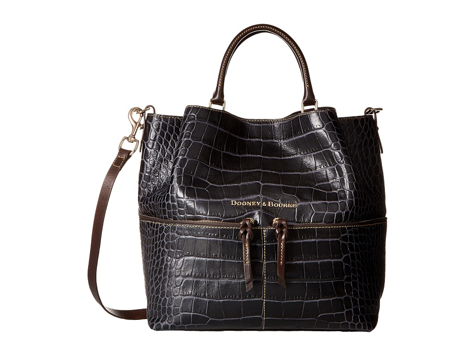 Dooney & Bourke - City Lafayette Large Dawson (Charcoal) Handbags