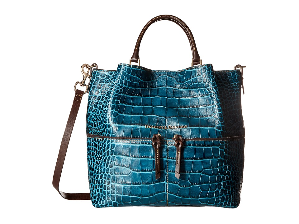 Dooney & Bourke - City Lafayette Large Dawson (Teal) Handbags