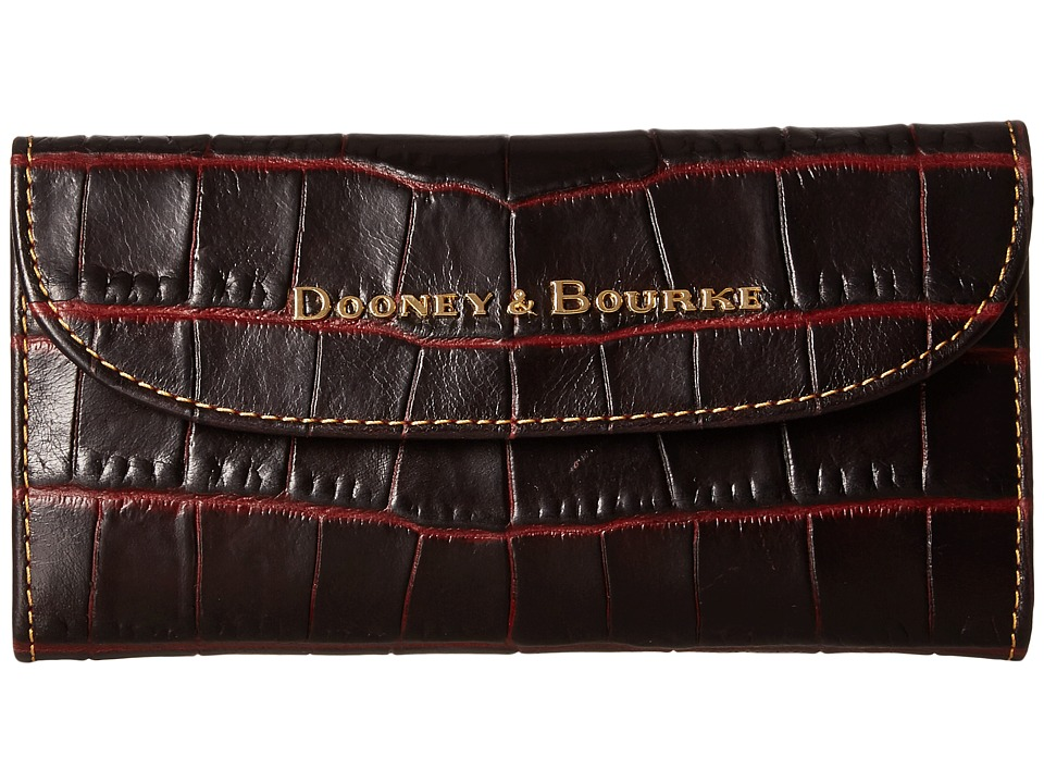 Dooney & Bourke - City Lafayette Continental Clutch (Bordeaux) Clutch Handbags
