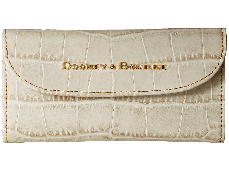 Dooney & Bourke City Lafayette Continental Clutch (Ivory) Clutch Handbags