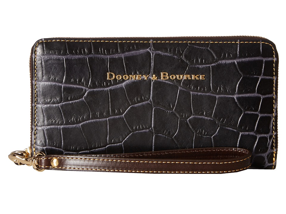 Dooney & Bourke - City Lafayette Large Zip Around Wristlet (Charcoal) Wristlet Handbags