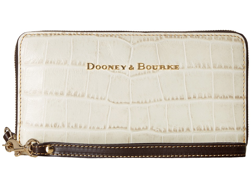 Dooney & Bourke - City Lafayette Large Zip Around Wristlet (Ivory) Wristlet Handbags