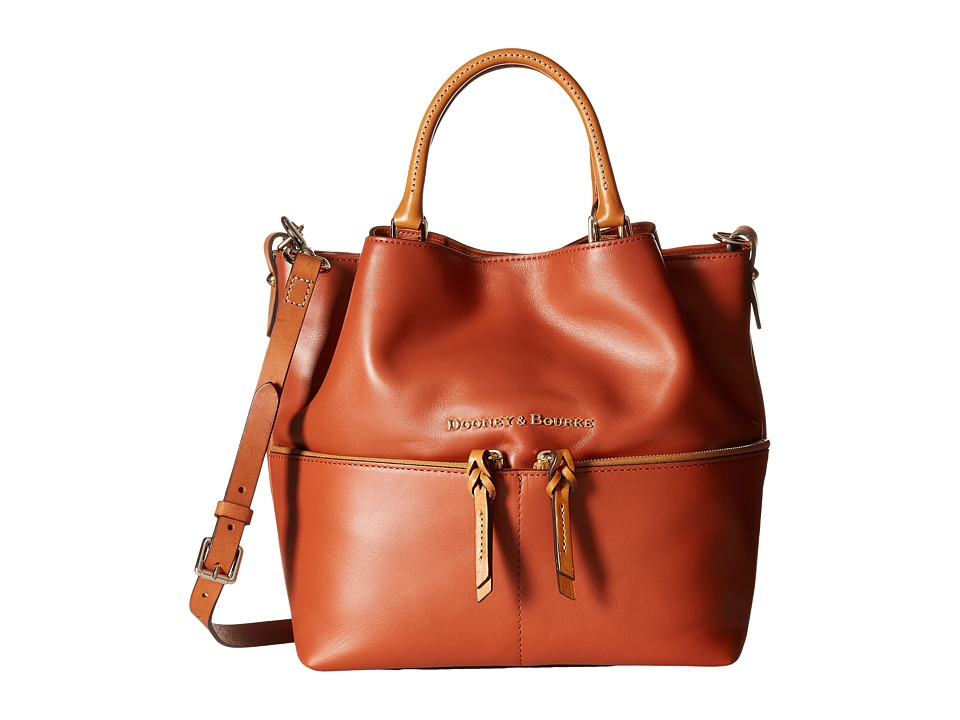 Dooney & Bourke - City Dawson (Cognac) Satchel Handbags